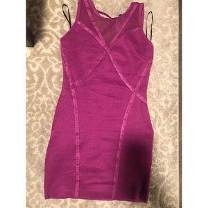 Fuchsia mini dress